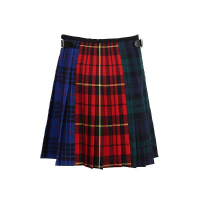 colorful check pattern skirt